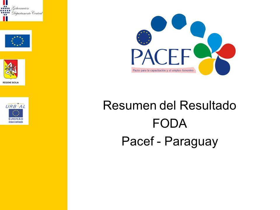 Resumen del Resultado FODA Pacef - Paraguay