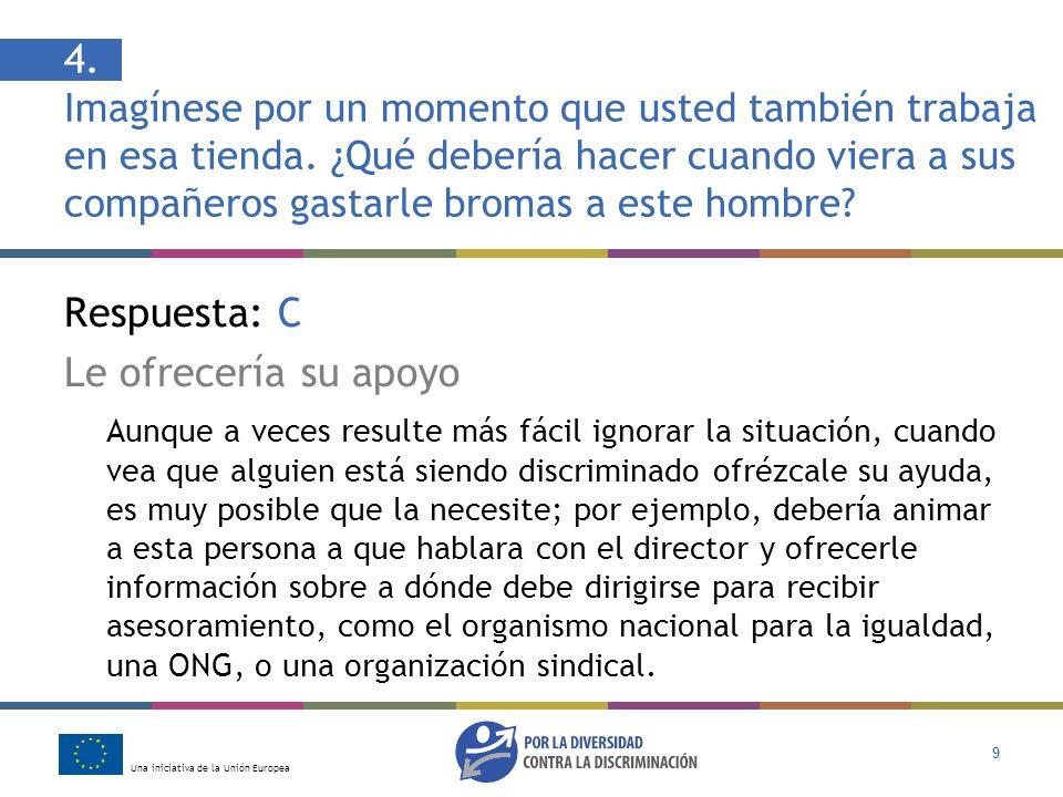 Una iniciativa de la Unión Europea 20 Ayuda y asesoramiento Para obtener más información sobre sus derechos, diríjase a: Observatorio Español del Racismo y la Xenofobia www.oberaxe.es