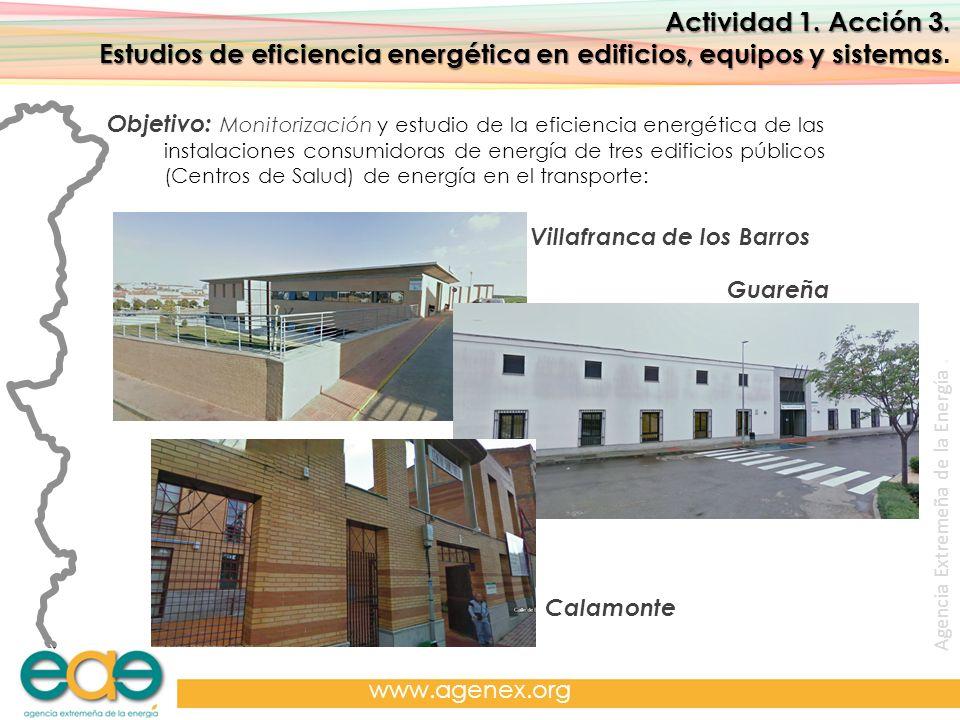 Agencia Extremeña de la Energía. www.agenex.org Actividad 1. Acción 3. Estudios de eficiencia energética en edificios, equipos y sistemas Estudios de