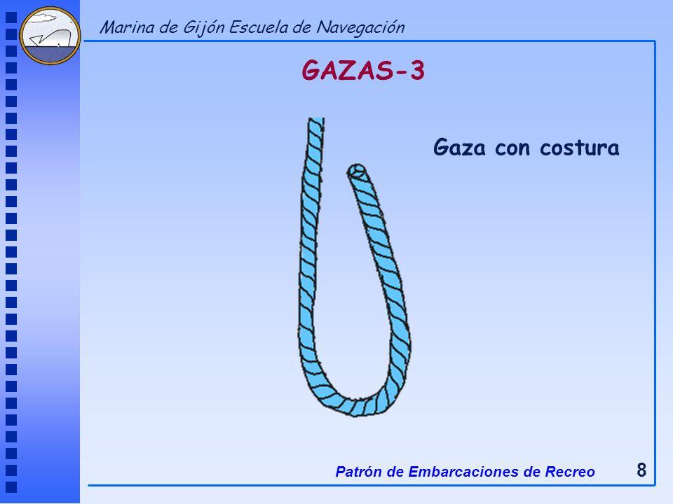 GAZAS-3 Gaza con costura Patrón de Embarcaciones de Recreo 8 Marina de Gijón Escuela de Navegación