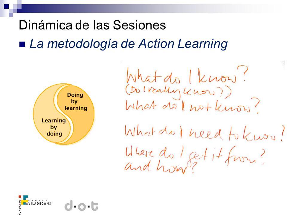 Dinámica de las Sesiones La metodología de Action Learning