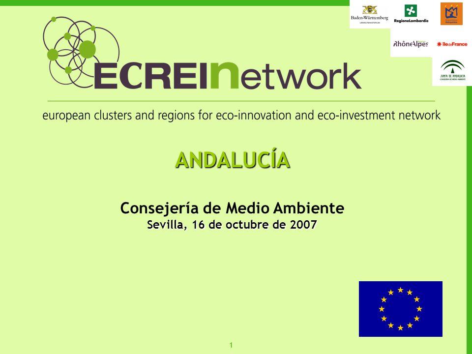 22 PR E P lataforma R egional de asociación de agentes para el fomento de instrumentos financieros de apoyo a las E coinnovaciones y las tecnologías ambientales en AndalucíaPRE-Andalucía