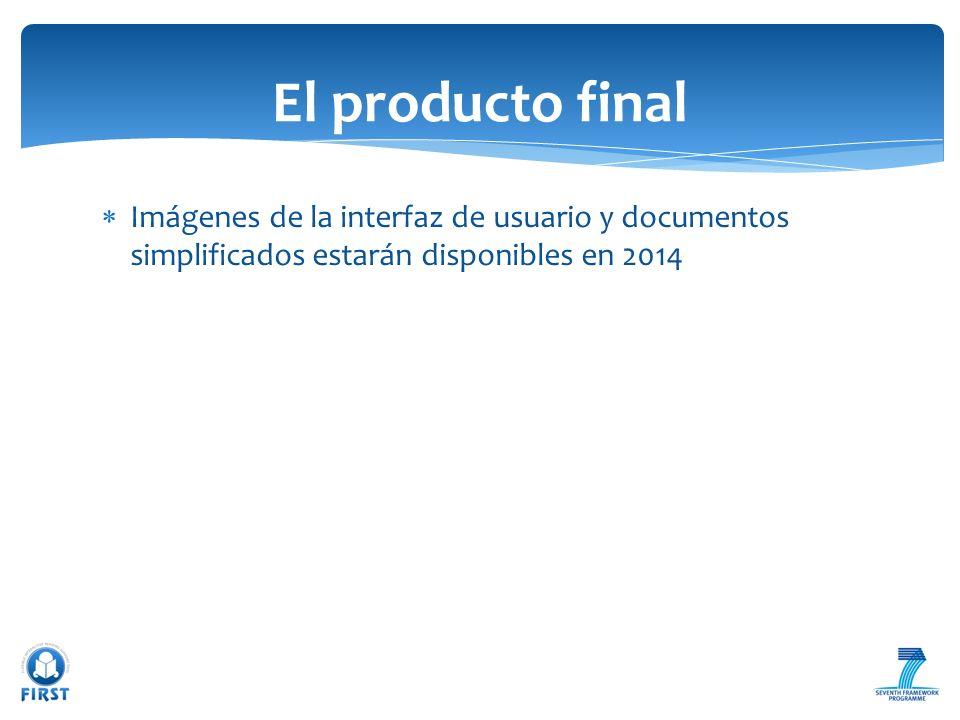 Imágenes de la interfaz de usuario y documentos simplificados estarán disponibles en 2014 El producto final