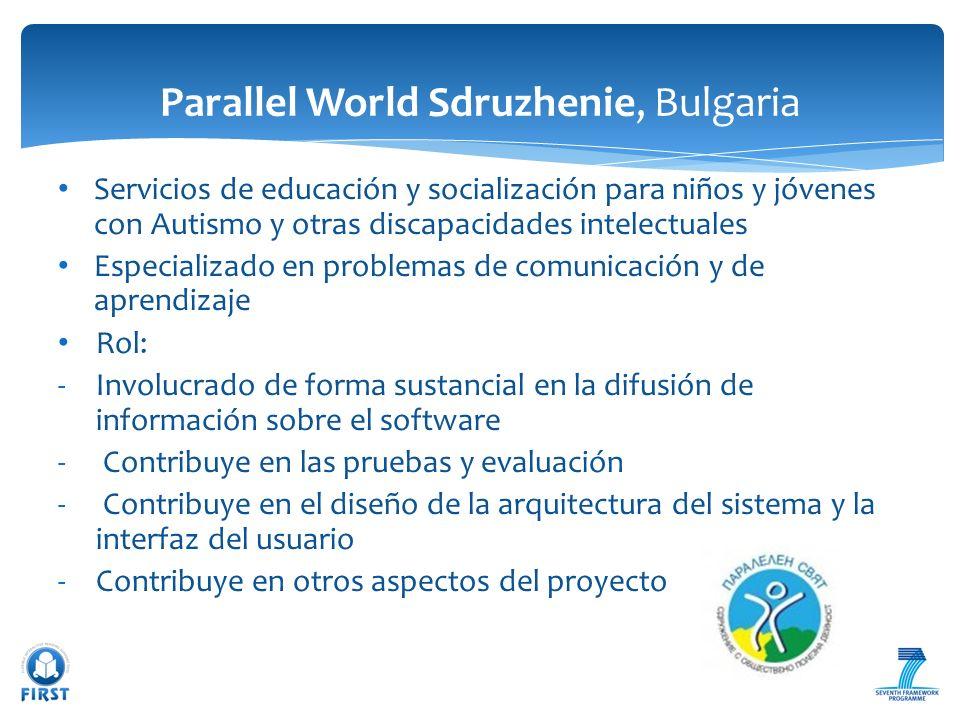 Servicios de educación y socialización para niños y jóvenes con Autismo y otras discapacidades intelectuales Especializado en problemas de comunicació