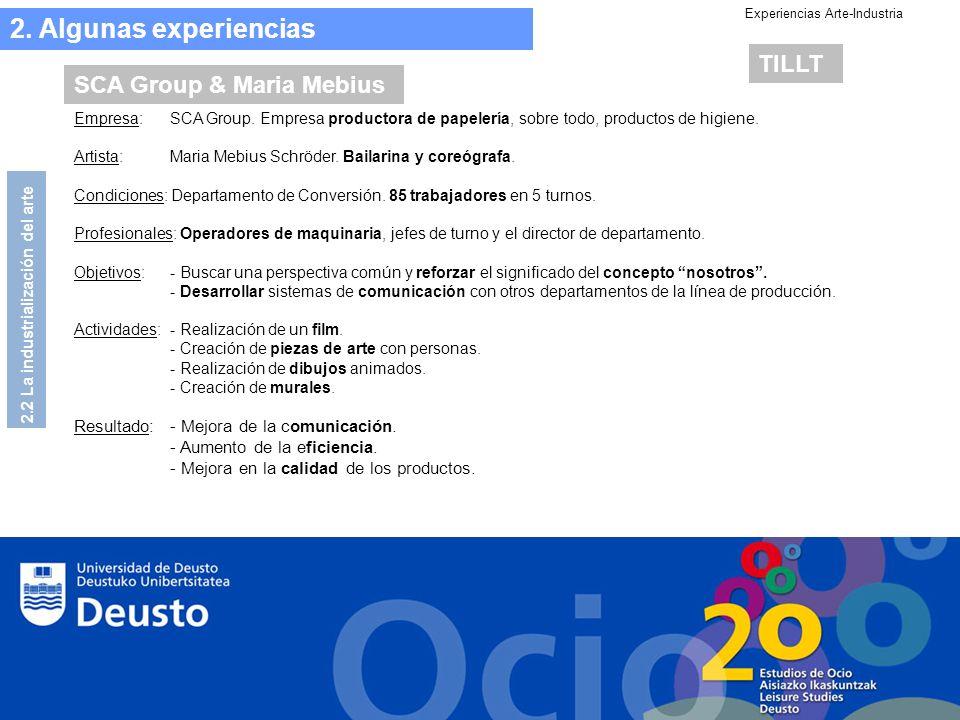 Experiencias Arte-Industria Empresa: SCA Group.
