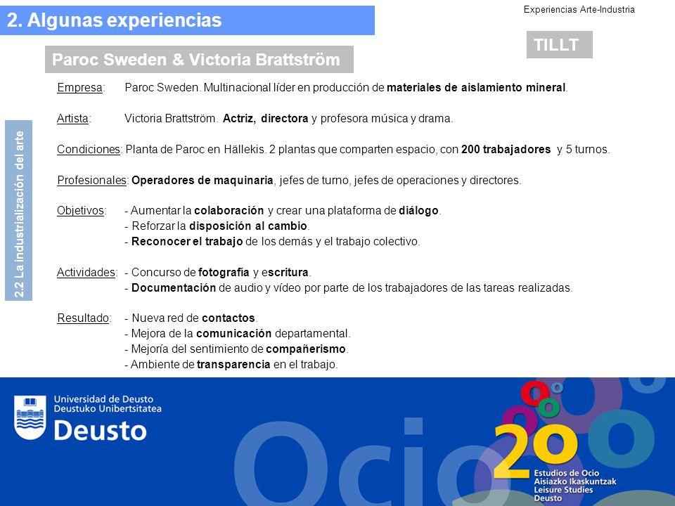 Experiencias Arte-Industria 2.