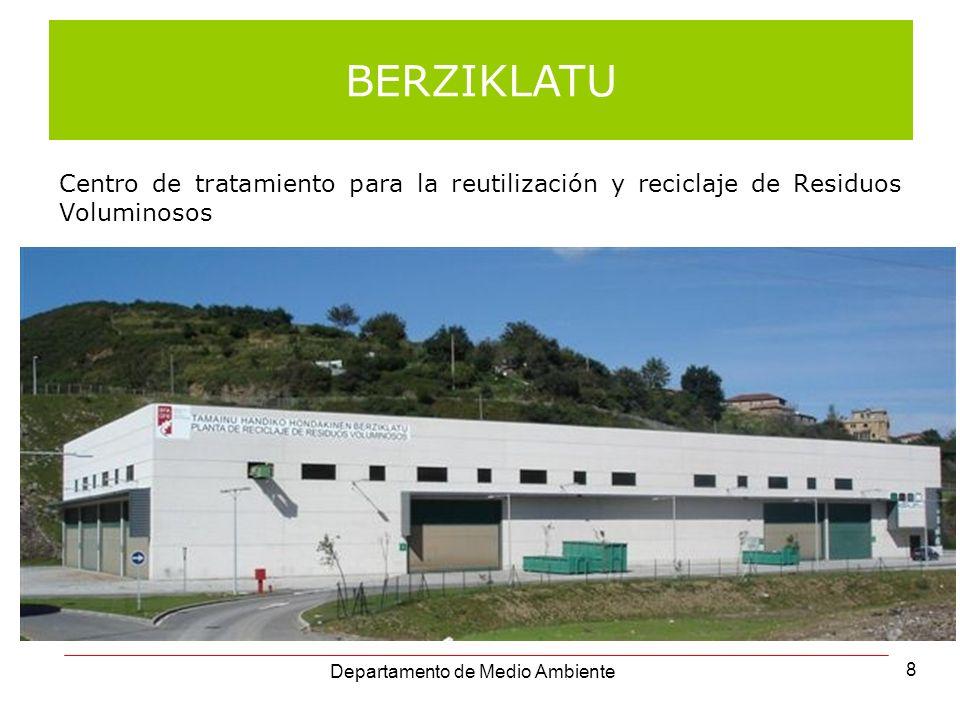 Centro de tratamiento para la reutilización y reciclaje de Residuos Voluminosos BERZIKLATU Departamento de Medio Ambiente 8