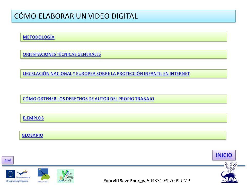Yourvid Save Energy, 504331-ES-2009-CMP CÓMO ELABORAR UN VIDEO DIGITAL
