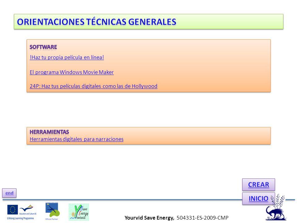Yourvid Save Energy, 504331-ES-2009-CMP