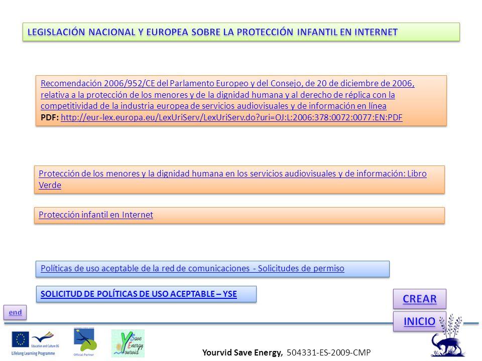 Recomendación 2006/952/CE del Parlamento Europeo y del Consejo, de 20 de diciembre de 2006, relativa a la protección de los menores y de la dignidad h