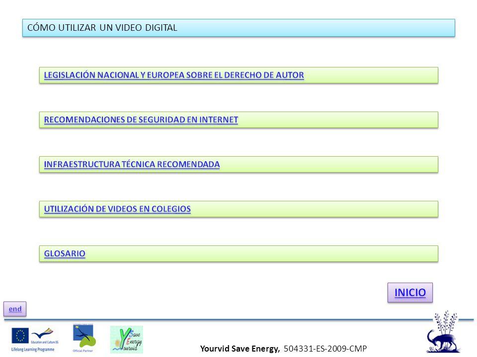 Yourvid Save Energy, 504331-ES-2009-CMP CÓMO UTILIZAR UN VIDEO DIGITAL