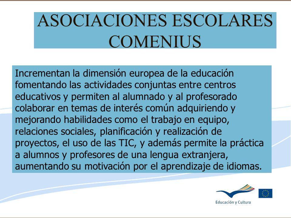 Delegación de Educación de Córdoba ASOCIACIONES ESCOLARES COMENIUS Incrementan la dimensión europea de la educación fomentando las actividades conjunt