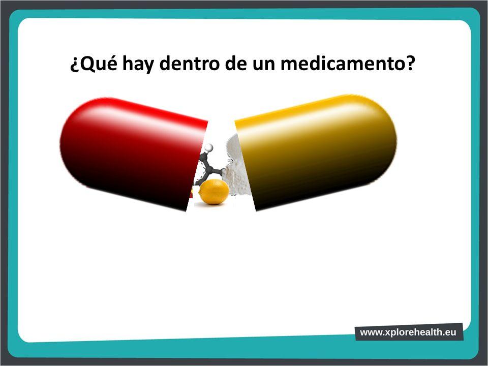 ¿Qué hay dentro de un medicamento?