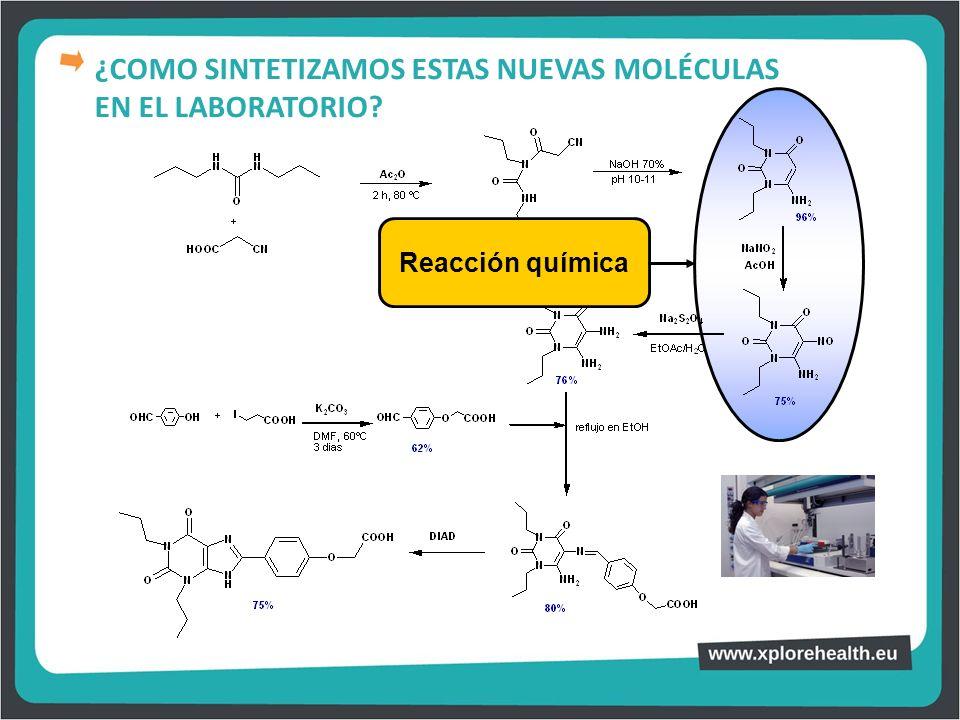 Reacción química ¿COMO SINTETIZAMOS ESTAS NUEVAS MOLÉCULAS EN EL LABORATORIO?