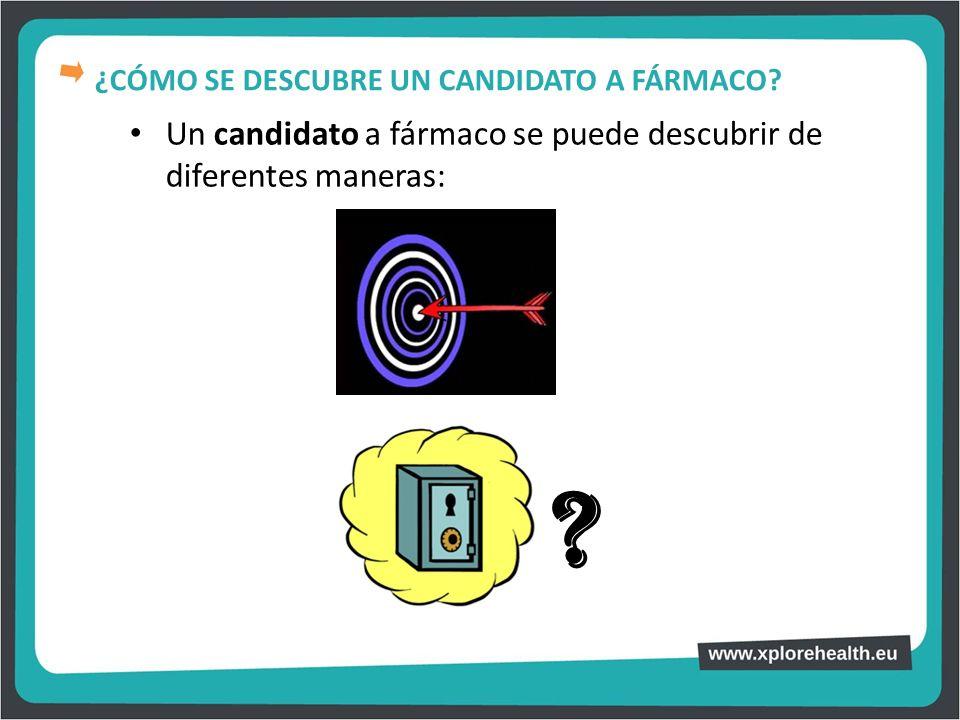 Un candidato a fármaco se puede descubrir de diferentes maneras: ? ¿CÓMO SE DESCUBRE UN CANDIDATO A FÁRMACO?