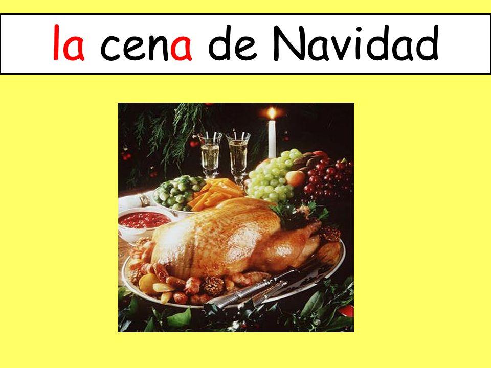 la cena de Navidad