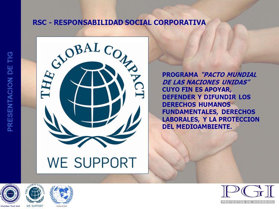PRESENTACION DE TIG CONFIANZA EN GBS -TIG SELLO DE CONFIANZA INTERNACIONAL EMITIDO POR LA CAMARA DE COMERCIO E INDUSTRIA DE MADRID COMO EMPRESA DE CONFIANZA A NIVEL INTERNACIONAL.