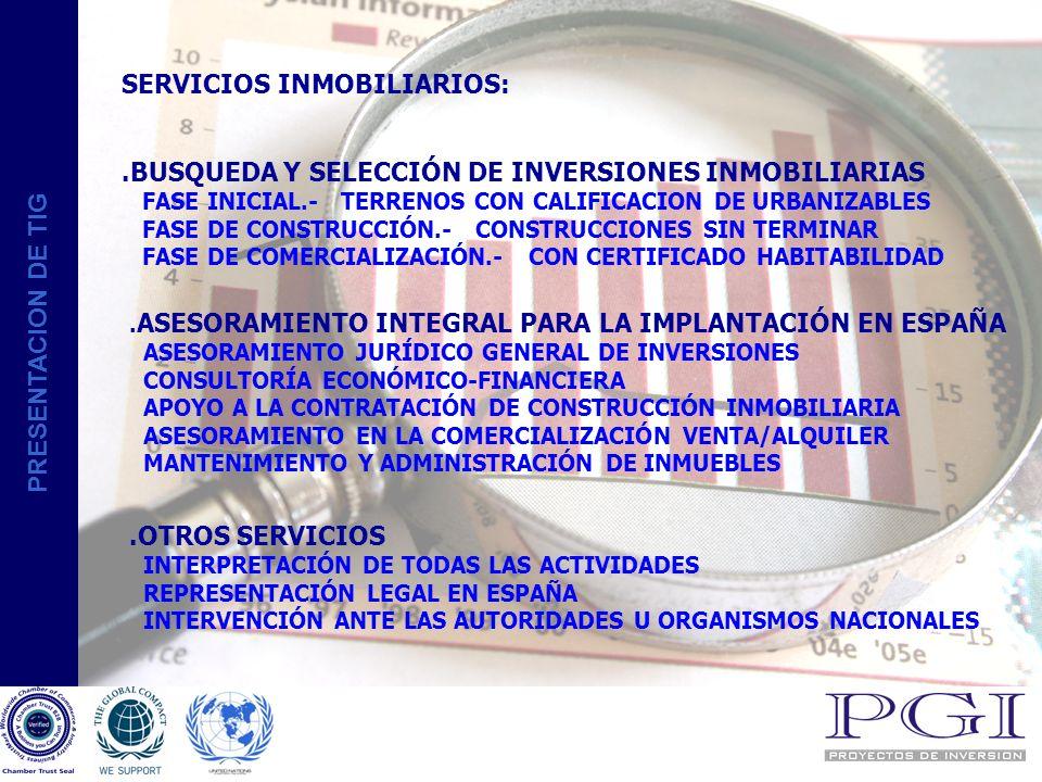 PRESENTACION DE TIG COLABORACIONES STU Corpique,S.A. Pza. de c/Cortes,4 28014 MADRID