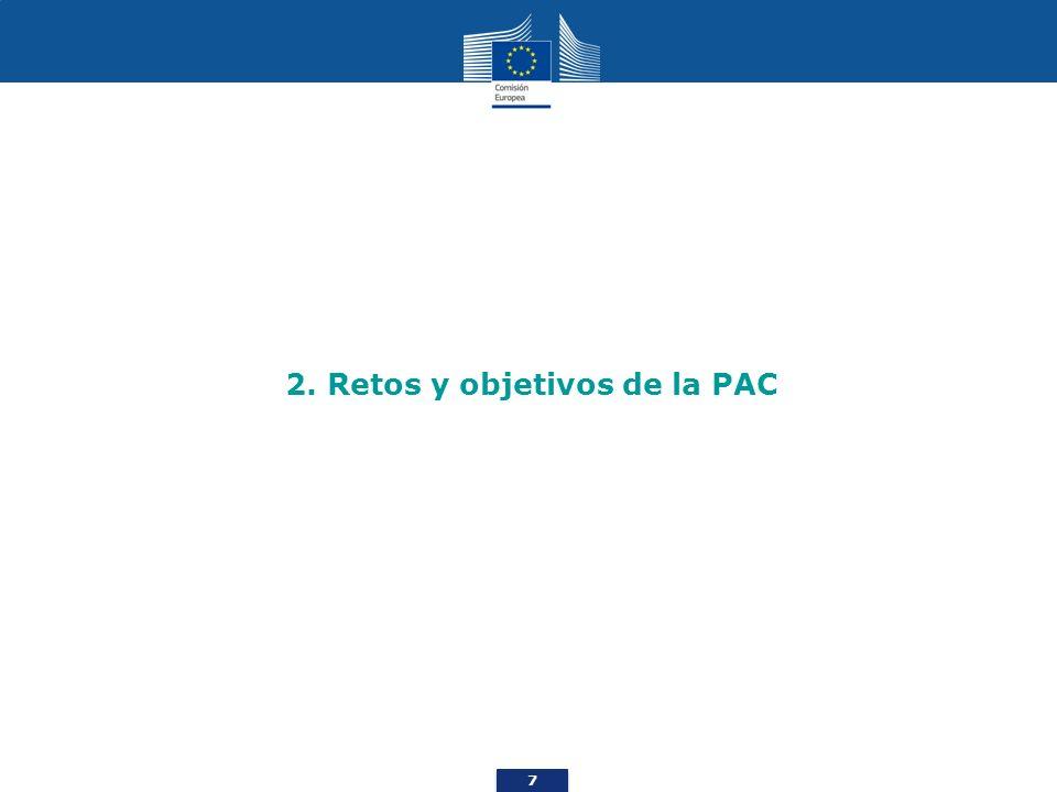 8 Cuáles son los retos a los que se enfrenta la agricultura… Retos económicos Seguridad alimentaria Variabilidad de los precios Crisis económica Retos ambientales Emisiones de gases de efecto invernadero Degradación de los suelos Calidad del agua y del aire Hábitats y biodiversidad Retos territoriales Vitalidad de las zonas rurales Diversidad de la agricultura de la UE Retos Ambientales Económicos Territoriales Comunicación de la Comisión «La PAC en el horizonte de 2020»