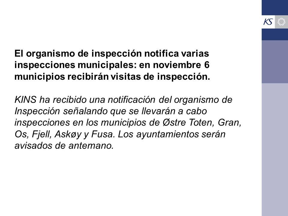 El organismo de inspección notifica varias inspecciones municipales: en noviembre 6 municipios recibirán visitas de inspección.