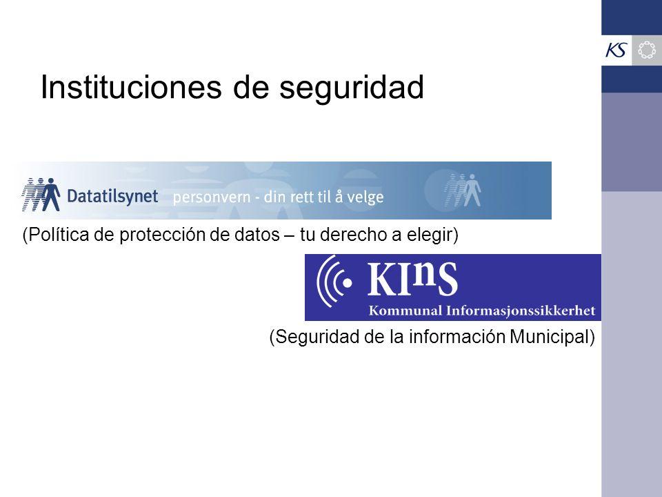 Instituciones de seguridad (Seguridad de la información Municipal) (Política de protección de datos – tu derecho a elegir)