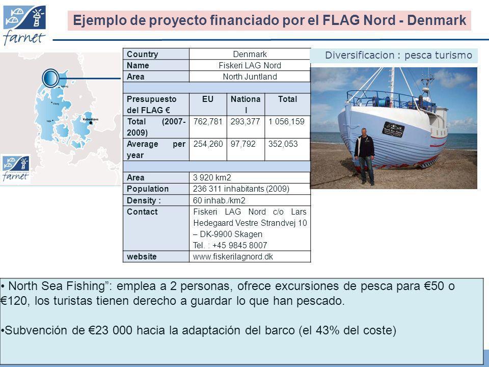 17 North Sea Fishing: emplea a 2 personas, ofrece excursiones de pesca para 50 o 120, los turistas tienen derecho a guardar lo que han pescado. Subven