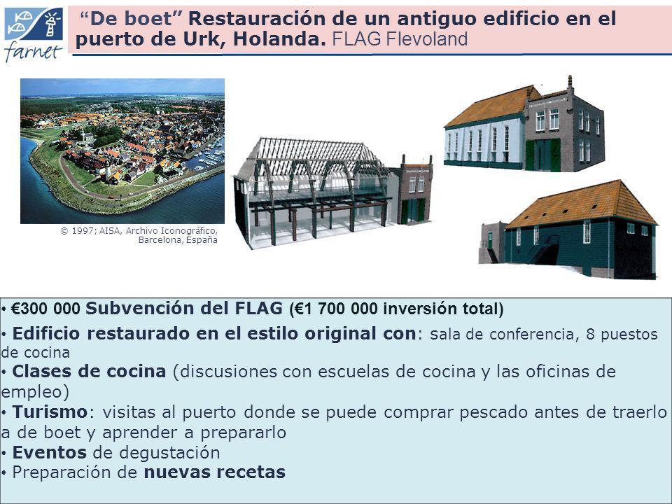 18 300 000 Subvención del FLAG (1 700 000 inversión total) Edificio restaurado en el estilo original con: s ala de conferencia, 8 puestos de cocina Cl