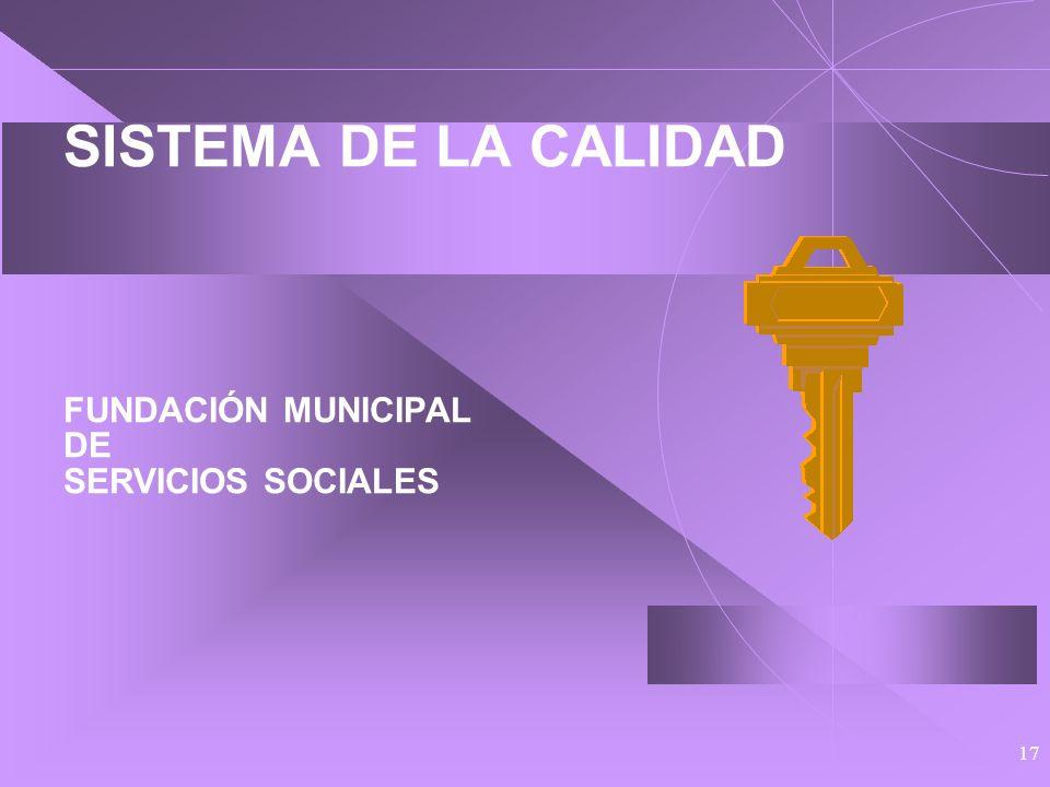 16 PLAN DE CALIDAD DE LA FUNDACIÓN MUNICIPAL DE SERVICIOS SOCIALES Inscrito, igual que el municipal, en un: Conjunto de actuaciones de renovación y ad