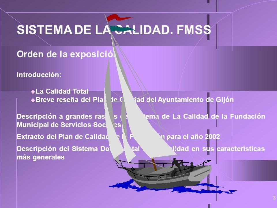 1 SISTEMA DE CALIDAD AYUNTAMIENTO DE GIJÓN FUNDACIÓN MUNICIPAL DE SERVICIOS SOCIALES