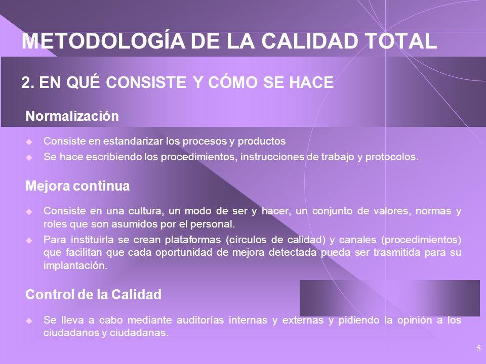 5 METODOLOGÍA DE LA CALIDAD TOTAL 2.
