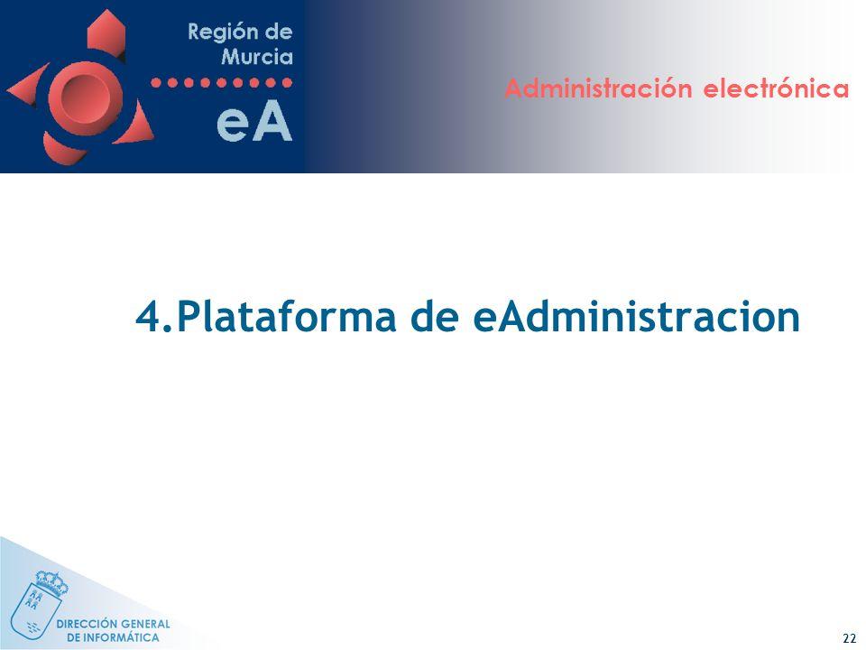 Administración electrónica 22 4.Plataforma de eAdministracion