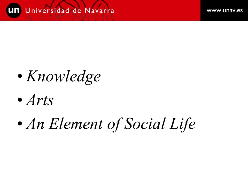 Knowledge Arts An Element of Social Life