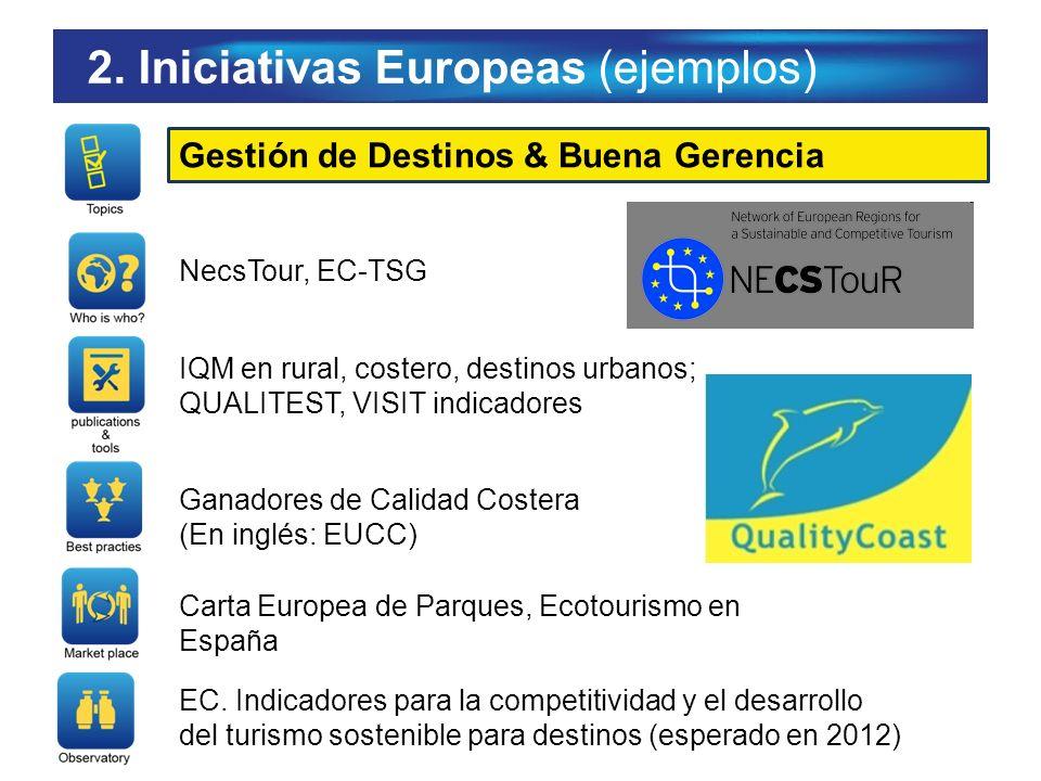 Gestión de Destinos & Buena Gerencia NecsTour, EC-TSG IQM en rural, costero, destinos urbanos; QUALITEST, VISIT indicadores Ganadores de Calidad Coste