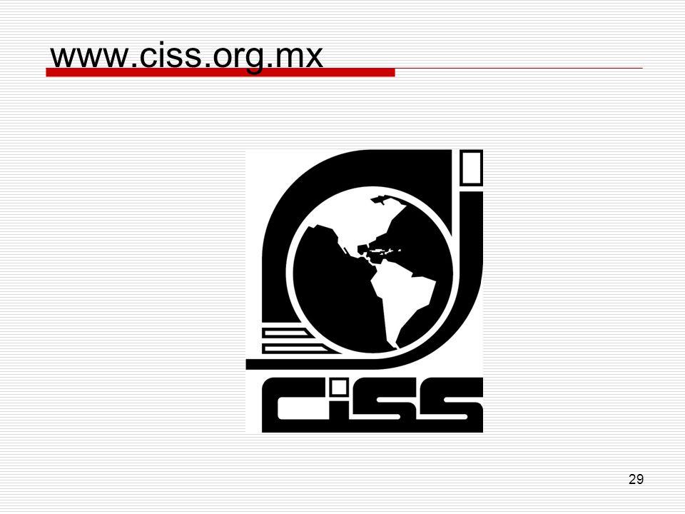 29 www.ciss.org.mx