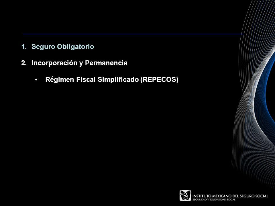 1.Seguro Obligatorio 2.Incorporación y Permanencia Régimen Fiscal Simplificado (REPECOS)