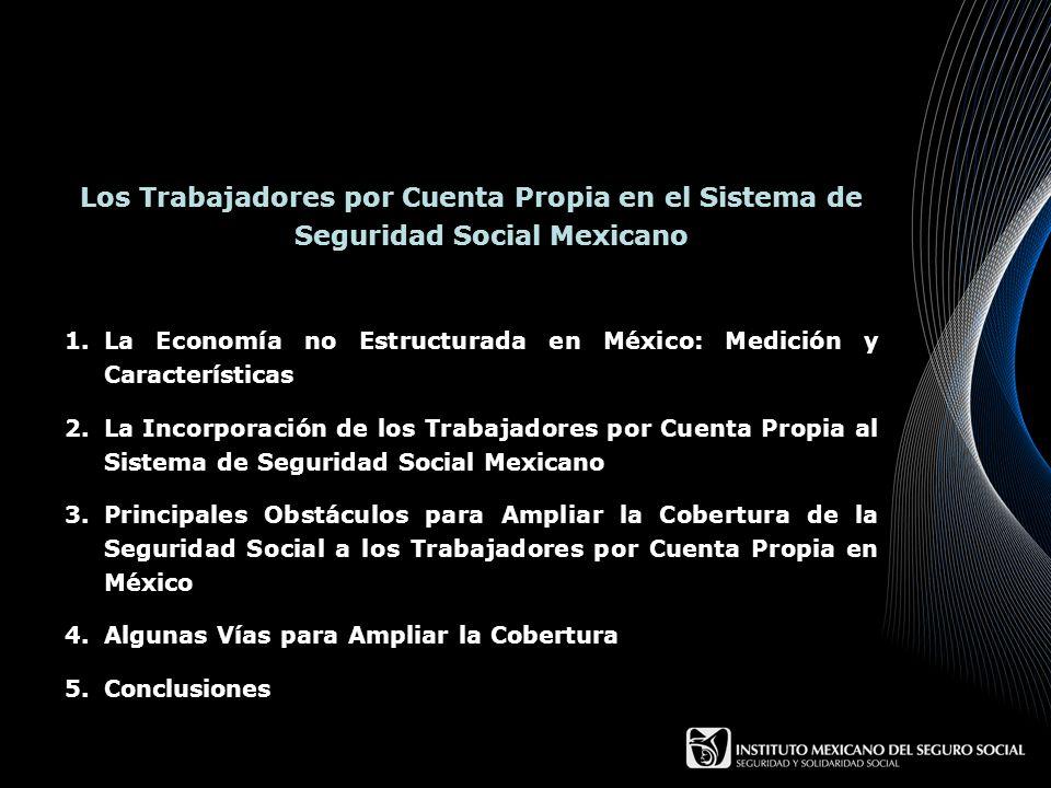 Los Trabajadores por Cuenta Propia en el Sistema de Seguridad Social Mexicano 1.La Economía no Estructurada en México: Medición y Características 2.La