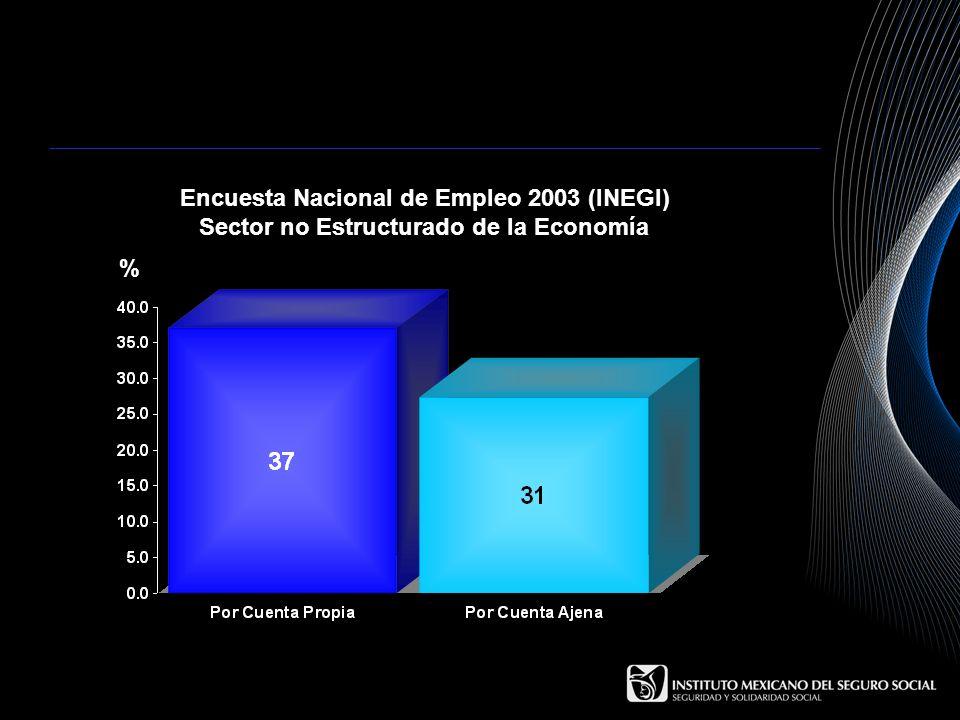 Encuesta Nacional de Empleo 2003 (INEGI) Sector no Estructurado de la Economía %