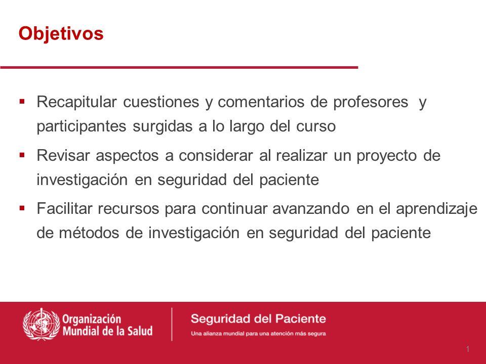 Síntesis de conocimientos. El universo de la investigación en seguridad del paciente Carlos Aibar Remón MD Departamento de Microbiología, Medicina Pre