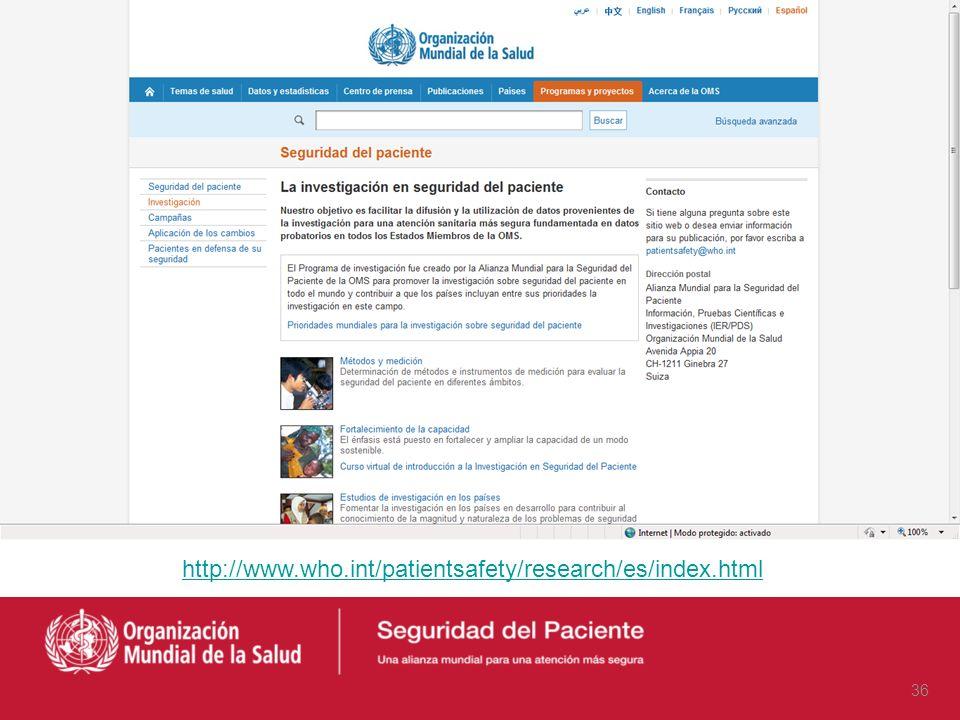 Manuales de publicación científica y búsqueda de información científica http://www.fb4d.com/pdf/abc.pdf http://gesdoc.isciii.es 35