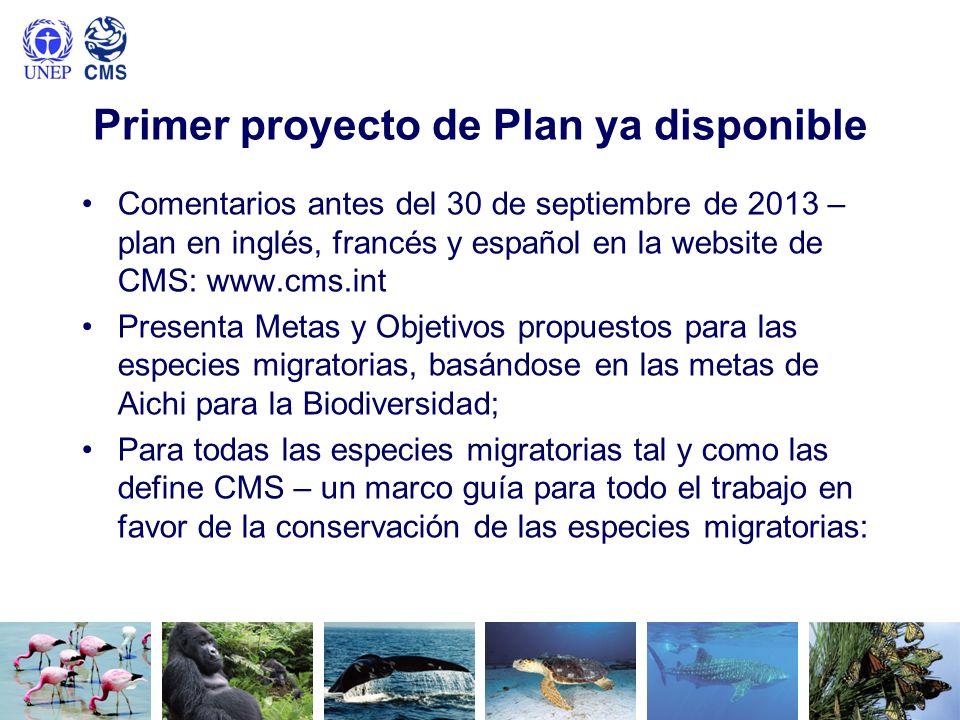 Primer proyecto de Plan ya disponible Comentarios antes del 30 de septiembre de 2013 – plan en inglés, francés y español en la website de CMS: www.cms