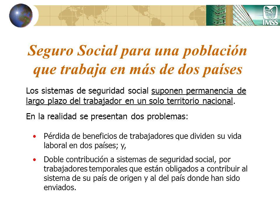 Seguro Social para una población que trabaja en más de dos países Los sistemas de seguridad social suponen permanencia de largo plazo del trabajador e