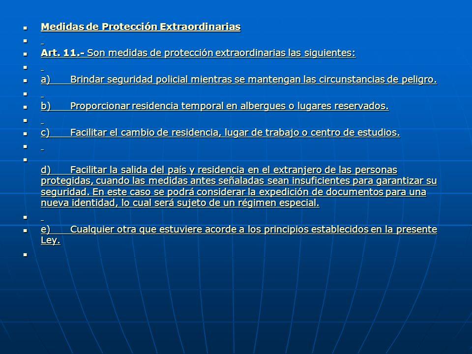 Medidas de Protección Ordinarias Medidas de Protección Ordinarias Medidas de Protección Ordinarias Medidas de Protección Ordinarias Art.
