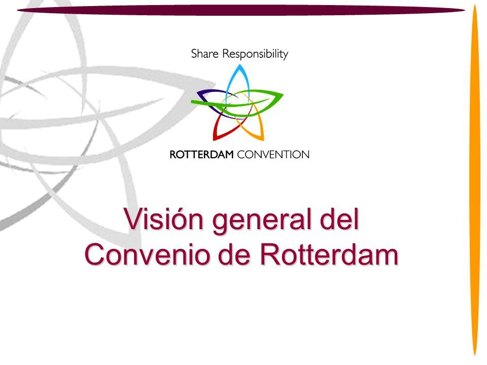 2 Visión general del Convenio de Rotterdam Estructura de la Presentación Parte 1 -Introducción al Convenio de Rotterdam Parte 2 - Funcionamiento del Convenio de Rotterdam Parte 3 -Beneficios para sus Partes