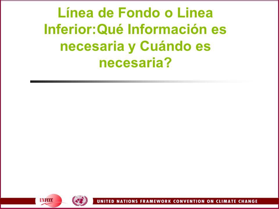Línea de Fondo o Linea Inferior:Qué Información es necesaria y Cuándo es necesaria?