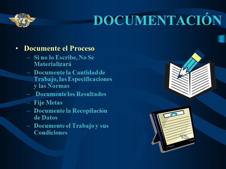PROCESO Es un elemento Decisivo en cualquier Tarea Se Compone de: –Normas Técnicas –Especificaciones Documentadas –Informes Claros y Concisos – Defini