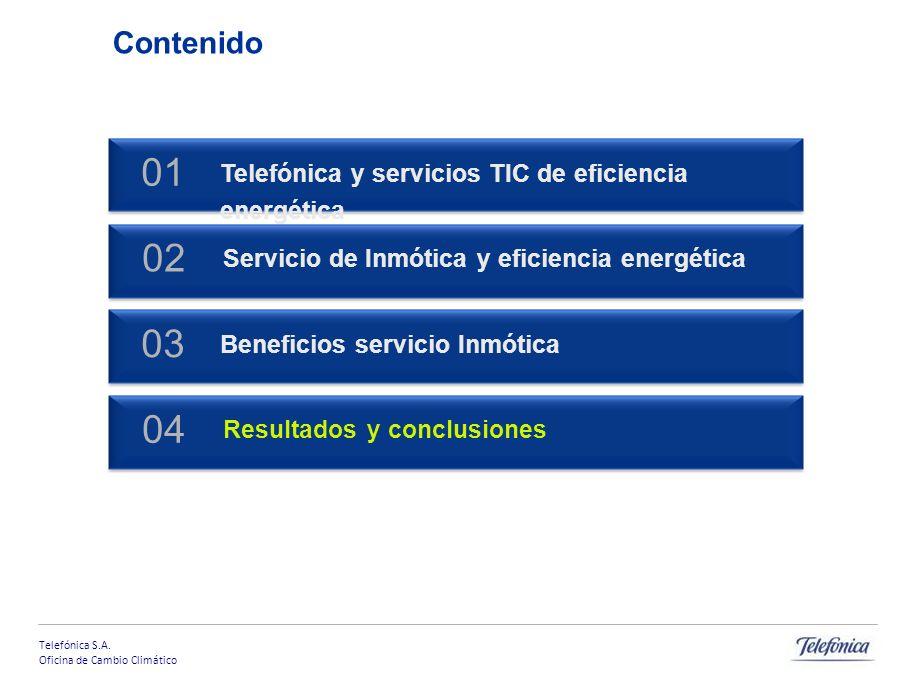 Telefónica S.A. Oficina de Cambio Climático 21 El proyecto 08 supone el despliegue en 100 oficinas: Ficha técnica Inversión inicial: 710.000 (100 sucu