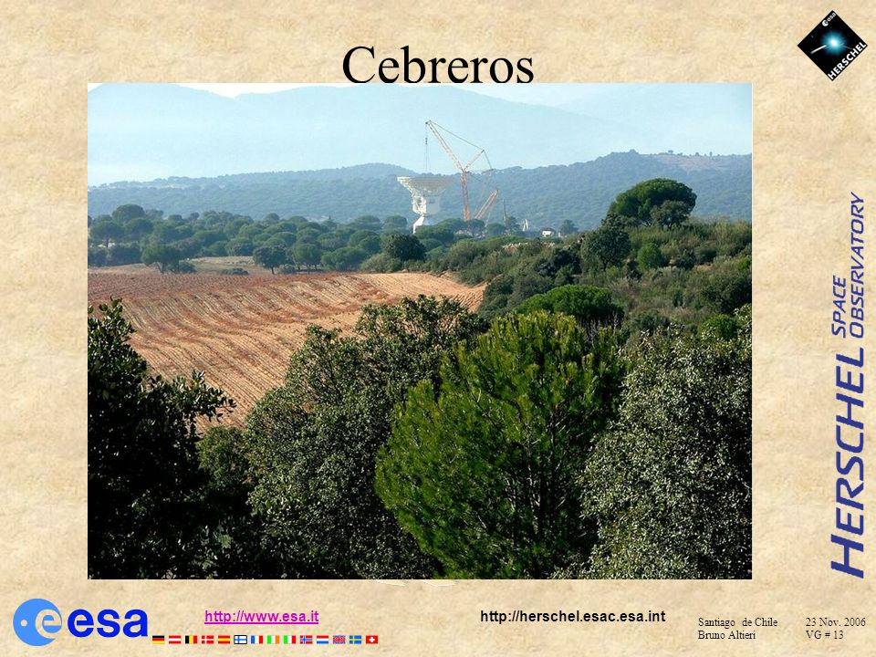 Santiago de Chile 23 Nov. 2006 Bruno Altieri VG # 12 http://www.esa.ithttp://www.esa.it http://herschel.esac.esa.int