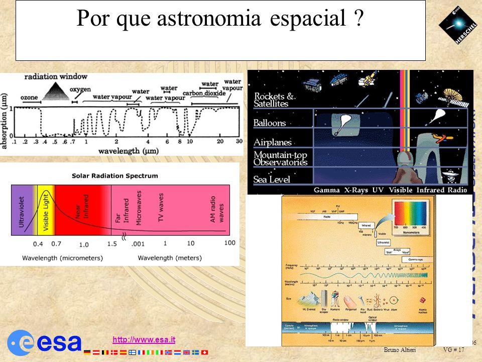 Santiago de Chile 23 Nov. 2006 Bruno Altieri VG # 16 http://www.esa.ithttp://www.esa.it http://herschel.esac.esa.int Ground-based Astronomy