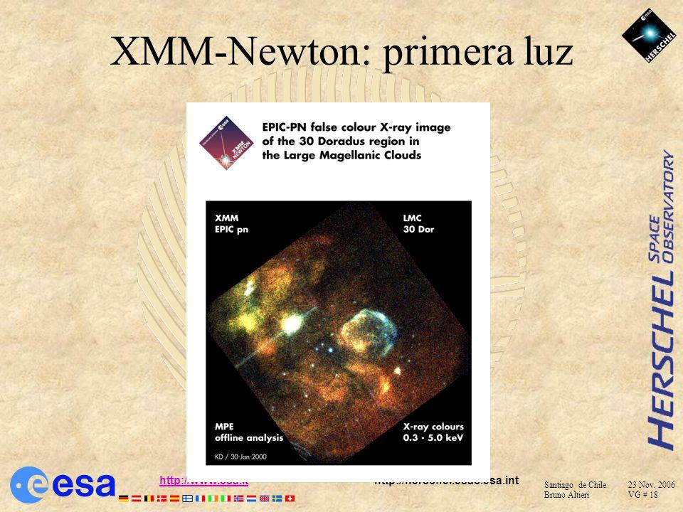Santiago de Chile 23 Nov. 2006 Bruno Altieri VG # 17 http://www.esa.ithttp://www.esa.it http://herschel.esac.esa.int Por que astronomia espacial ?