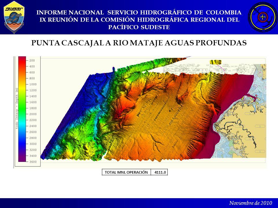 INFORME NACIONAL SERVICIO HIDROGRÁFICO DE COLOMBIA IX REUNIÓN DE LA COMISIÓN HIDROGRÁFICA REGIONAL DEL PACÍFICO SUDESTE Noviembre de 2010 PUNTA CASCAJ